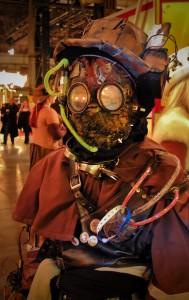Steampunk outfit mit Maske