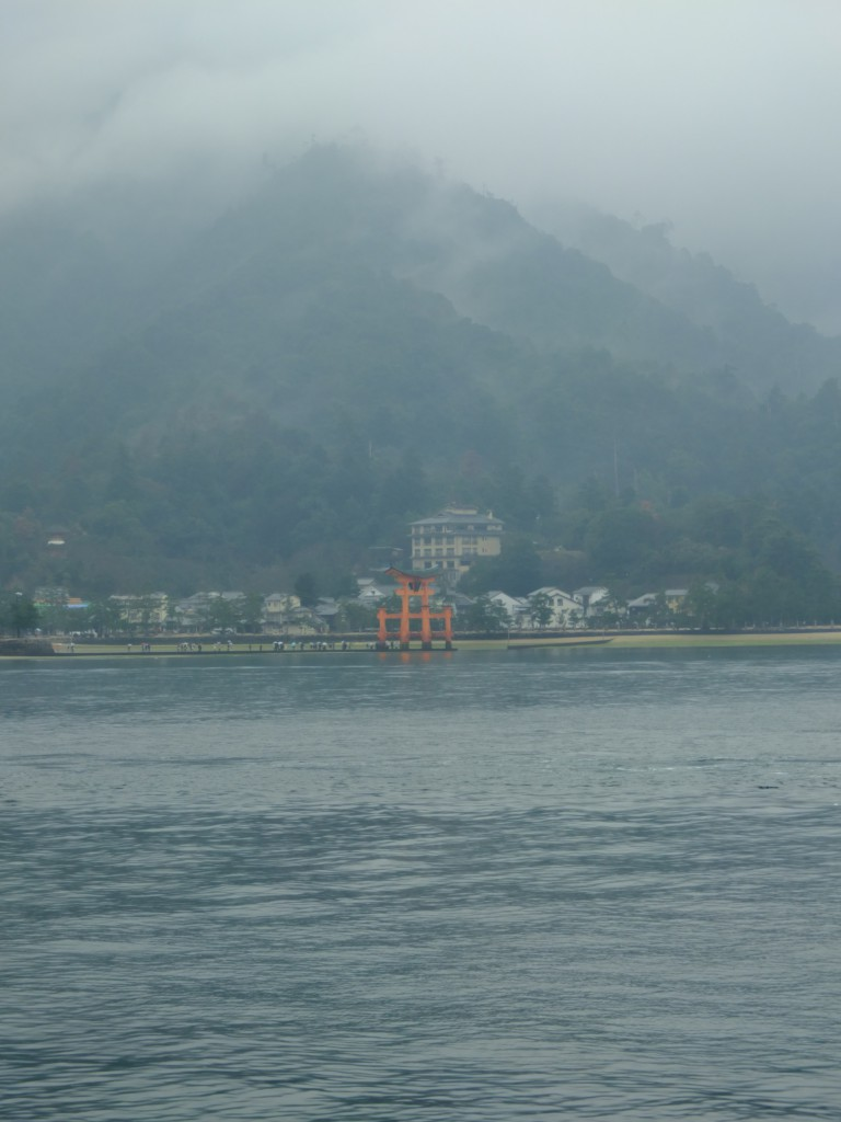 Itsukushima shrine view from sea