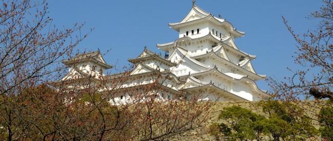 Himeji Burg hinter Ästen