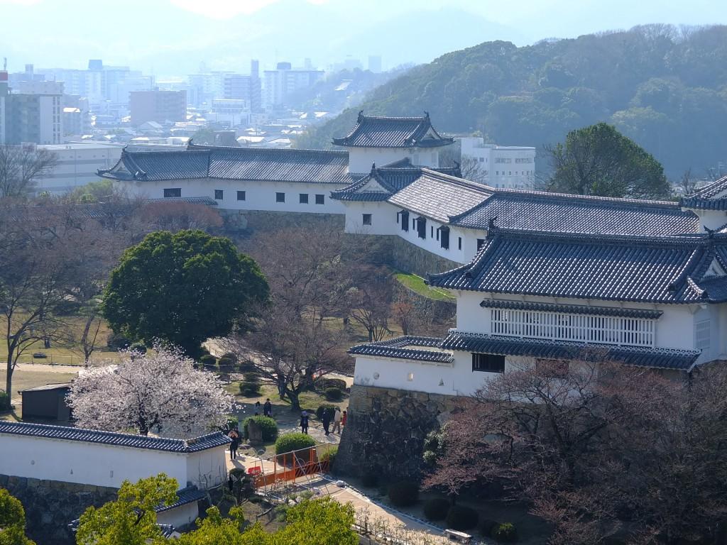 Himeji Burggelände von oben