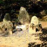 Kyoto Kinkakuji Statuen Geldspende