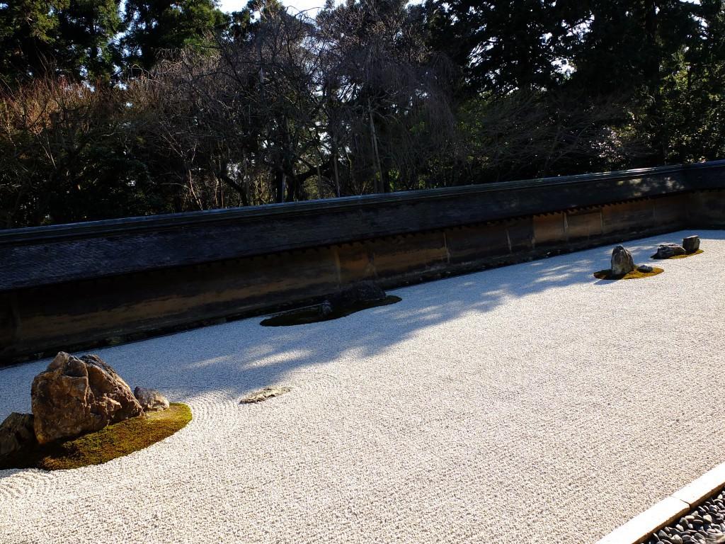 Kyoto Ryonji Tempel Steingarten