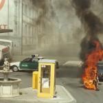 Bavaria Filmpark Stuntman brennt