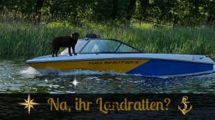 hund auf boot