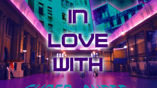 In love with cyber ayres neon art new retro wave